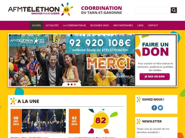 Site internet téléthon Montauban 82