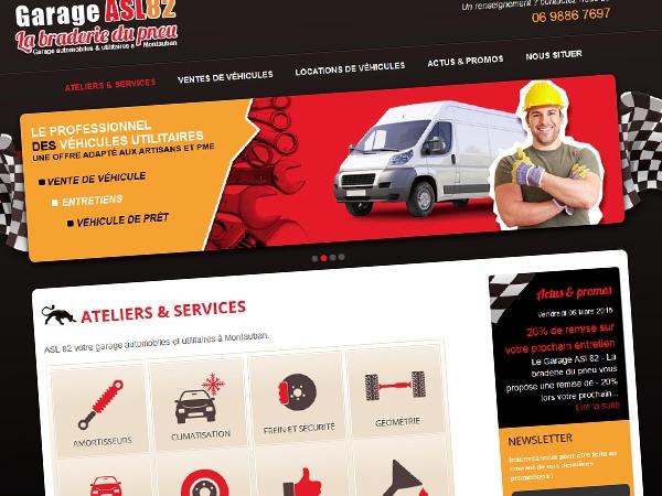 Site internet garage ASL 82 à Montauban 82