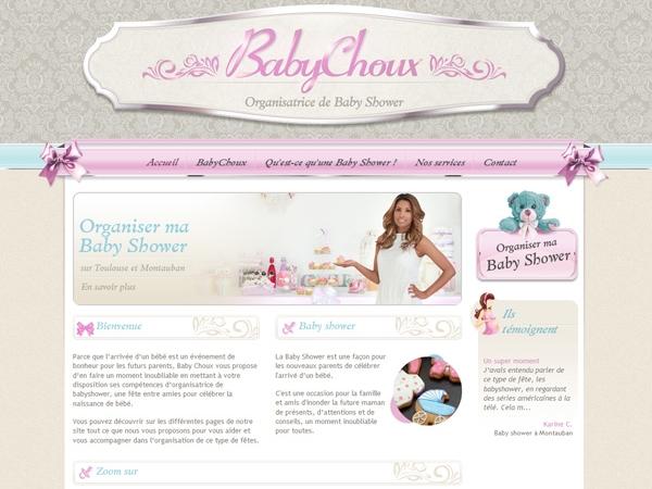 Graphiste création du logo de BabyChoux sur Montauban