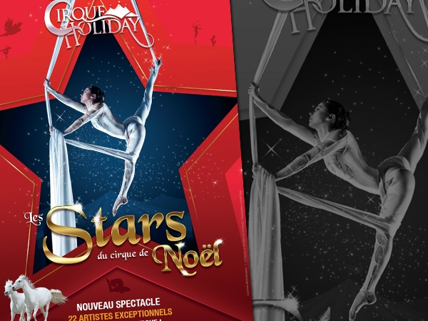 """Création affiche pour le cirque """"Circus Productions"""""""