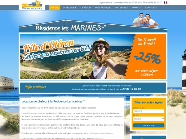 Creation du site internet www.location-ile-oleron.fr