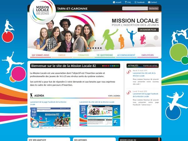 Création du site internet et de l'intranet