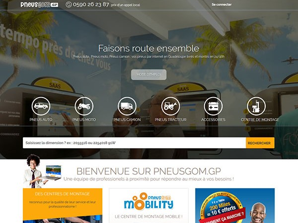 Pneusgom Guadeloupe - site internet