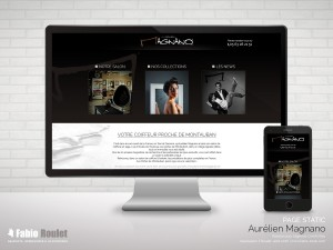 Site internet page static d'Aurélien Magnano coiffeur à Albias 82
