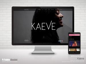 Site internet Drupal de la chanteuse Kaeve