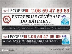 Print : bâches pour l'entreprise Lecorre à Réalville