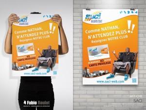Print : Flyer et affiche carte fidélité SACI
