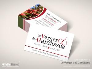 Print : Carte de visite  verger des Gamasses à Bioule