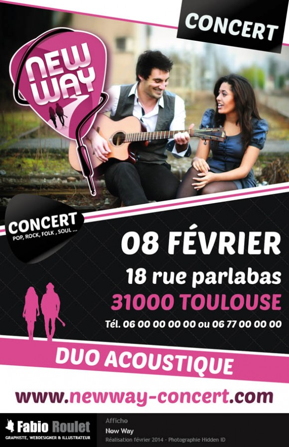 Affiche pour le groupe New Way à Toulouse