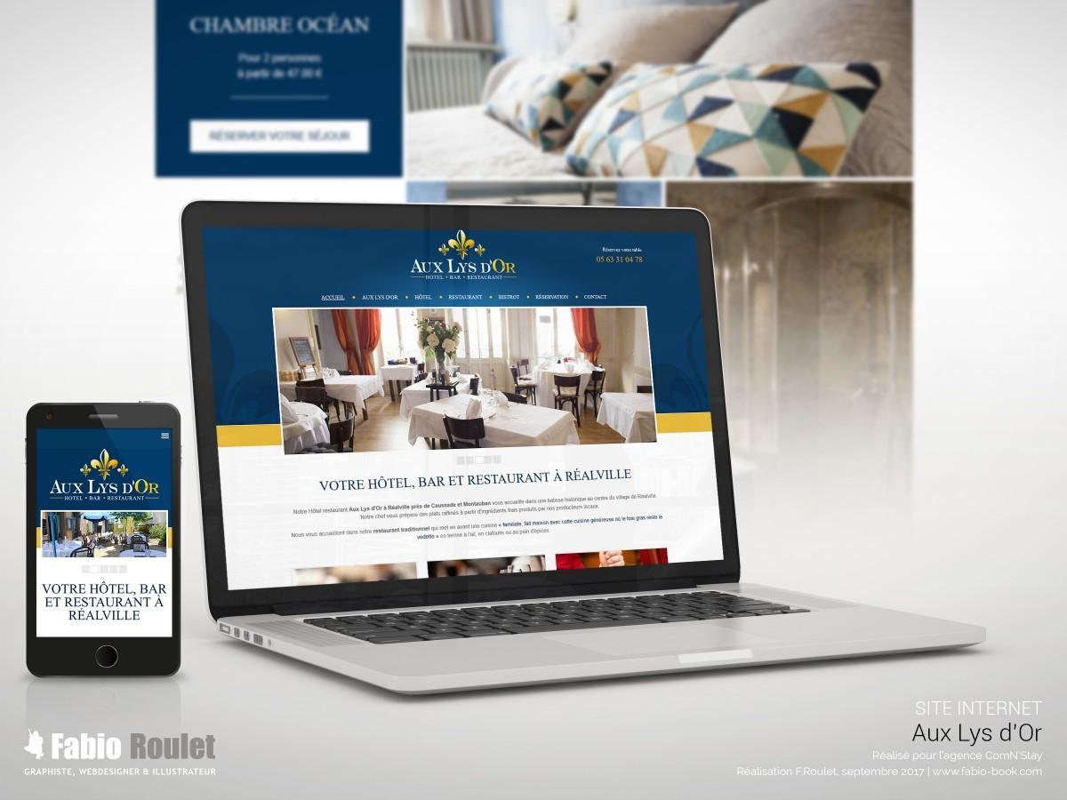 Site internet créé par le webdesigner Fabio