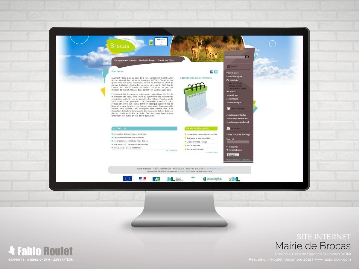 Site internet drupal de la mairie de Brocas