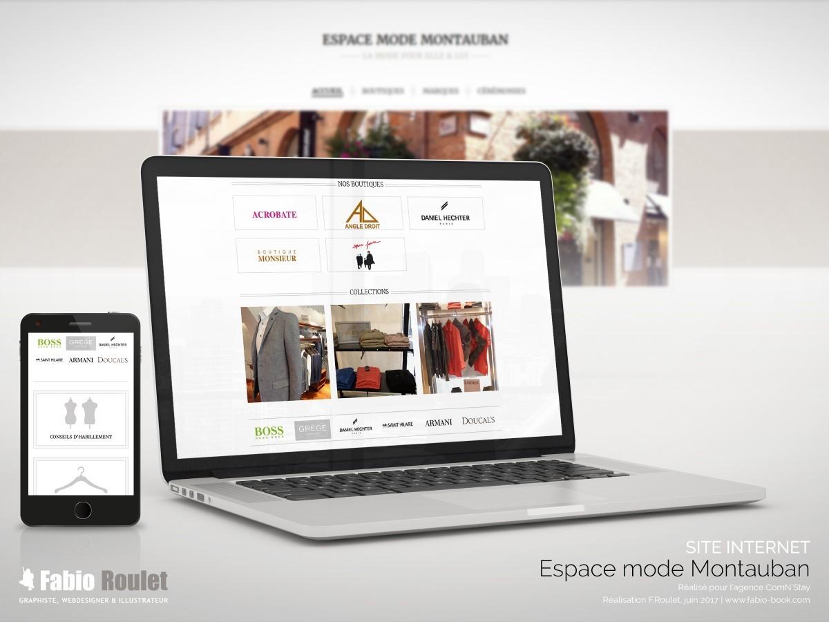 Site internet : espace mode à Montauban