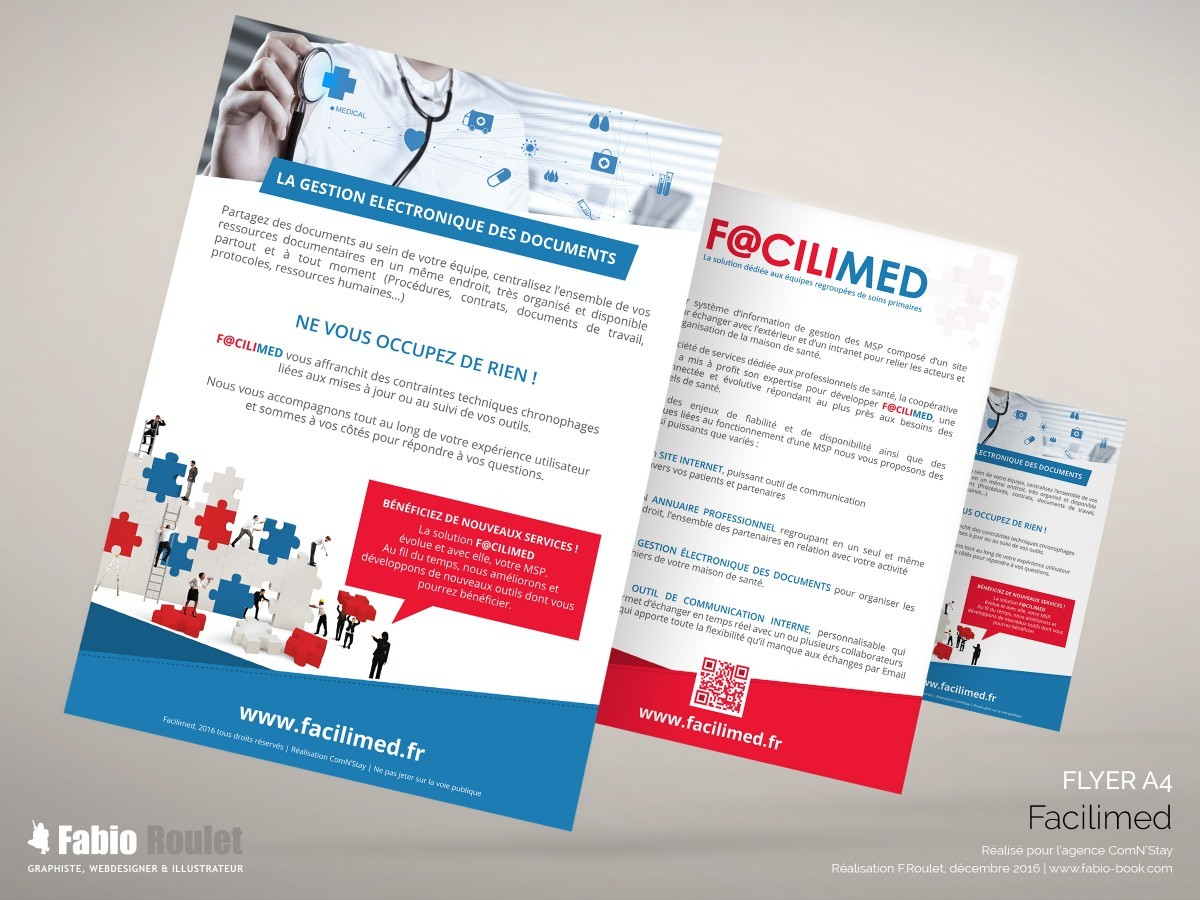 Print : flyer A5 Facilimed