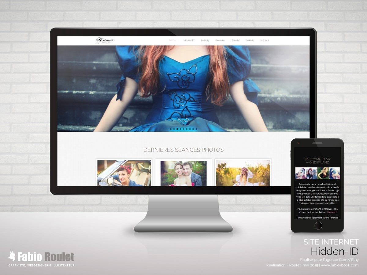 Site internet Drupal de la photographe Hidden ID