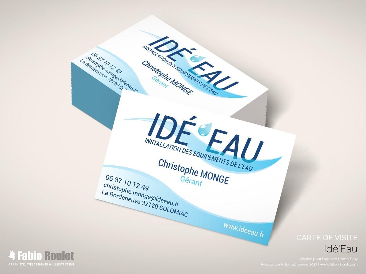 Print : carte de visite Idé'Eau