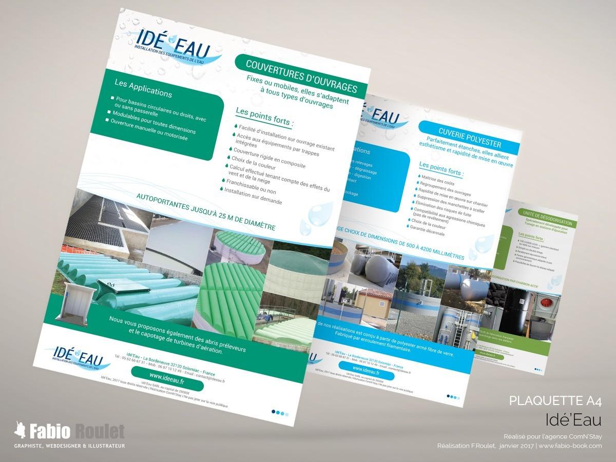 Print : plaquettes comerciales Idé'Eau