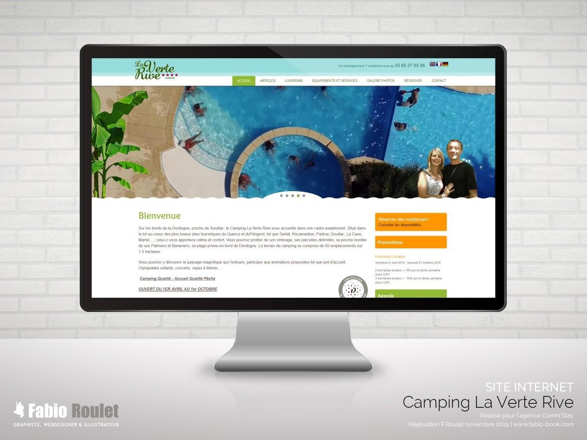 Site internet drupal 7 La verte Rive