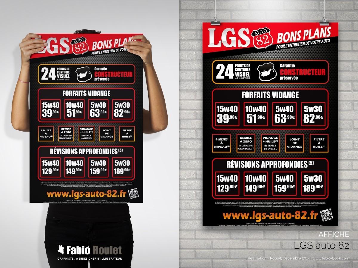 Flyer tarifs et forfaits vidange de votre garage