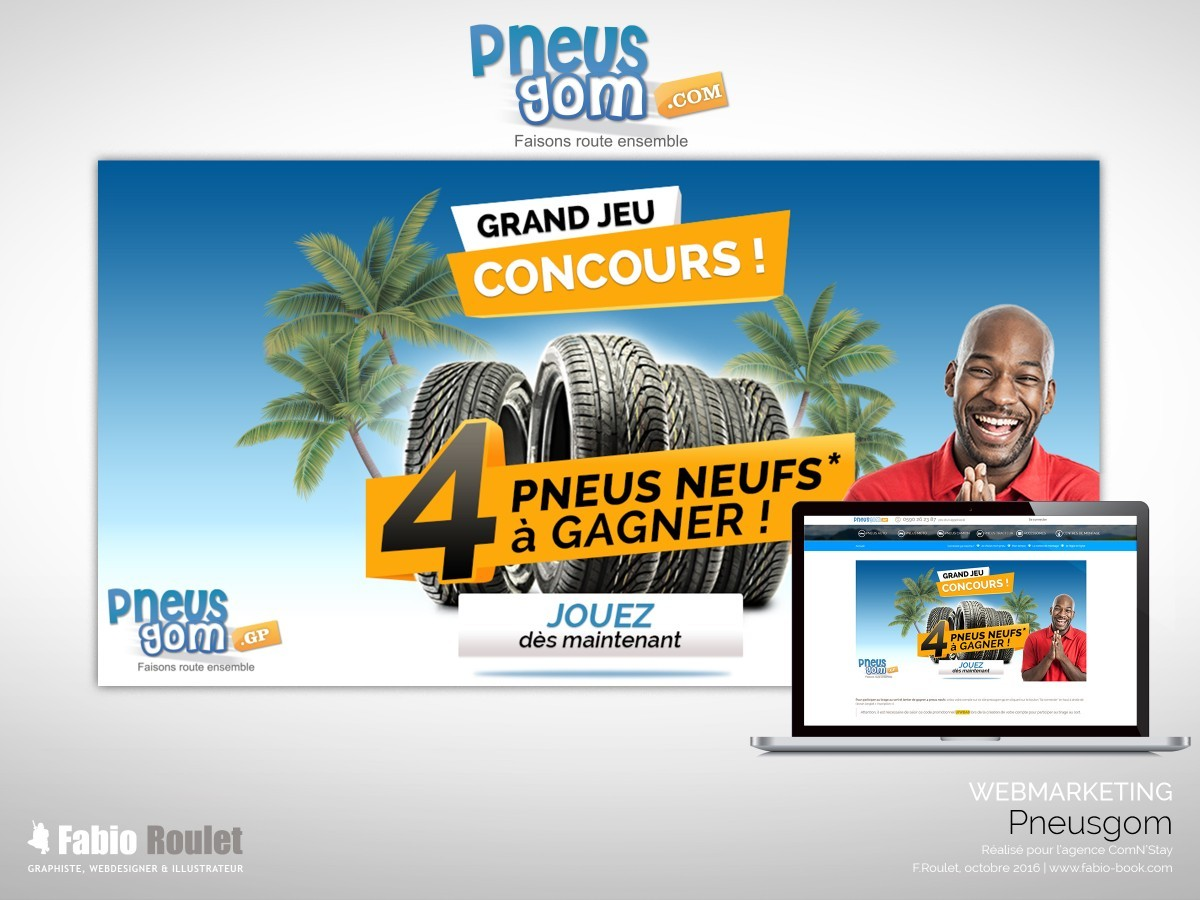 Webmarketing : Jeux pneusgom novembre 2016
