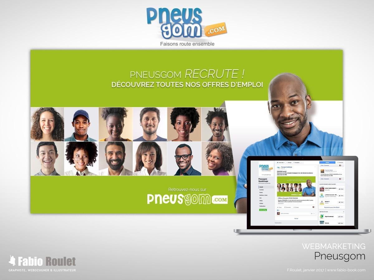 Webmarketing : Pneusgom recrute