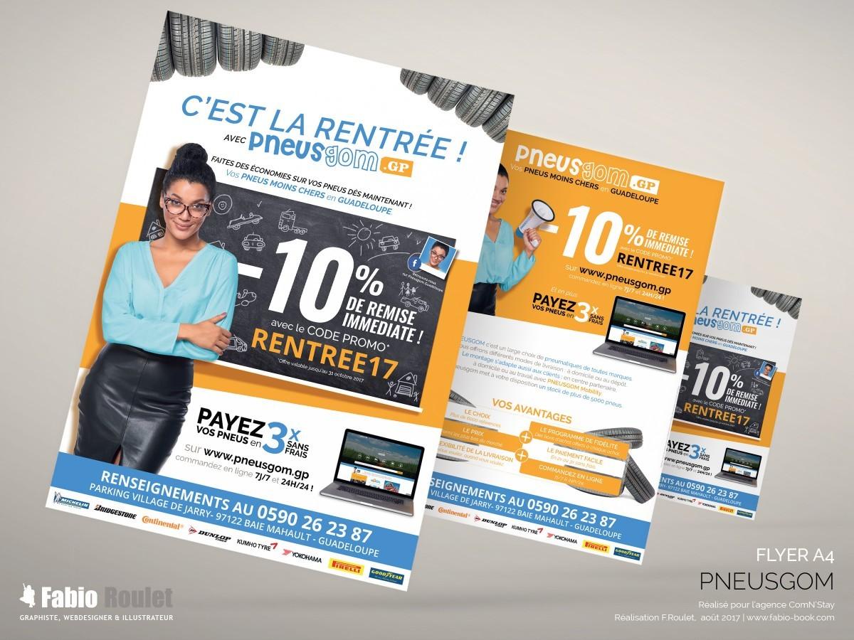 Print : flyer promotionnel A4