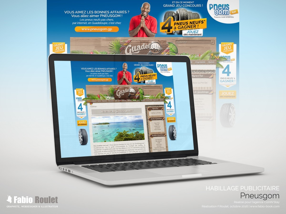 Webmarketing : habillage publicitaire du site guadeloupe.net