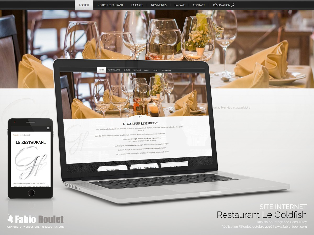 Site internet : restaurant le Goldfish